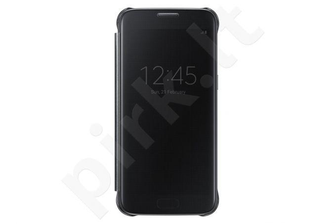 Samsung Galaxy S7 skaidrus atverčiamas dėklas ZG930CBE juodas