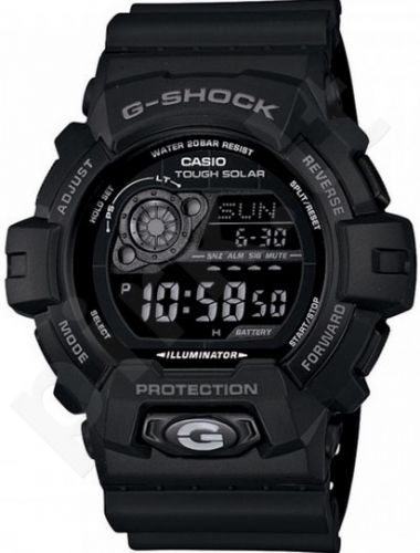Laikrodis CASIO G-SHOCK GR-8900A-1DR CLASSIC BLACK Shock & Magnetic resistant Auto led World time 29 zon 4 daily s Snooze Hourly Time Signal Countdown Timer Full auto-calendar WR 200mt **O