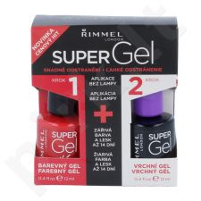 Rimmel London Super gelis By Kate Duo Kit rinkinys moterims, (12ml Super gelis By Kate + 12 ml Super gelis Top Coat) , (034 Hip Hop)