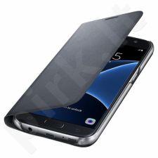 Samsung Galaxy S7 atverčiamas dėklas pinigin WG930PBE juodas