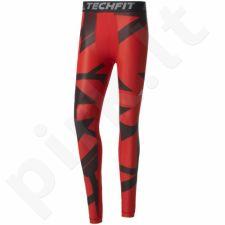 Sportinės kelnės kompresinės Adidas Techfit Chill Graphic Long Tights M BK6183