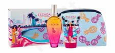 ESCADA Miami Blossom, rinkinys tualetinis vanduo moterims, (EDT 100 ml + kūno losjonas 150 ml + kosmetika krepšys)