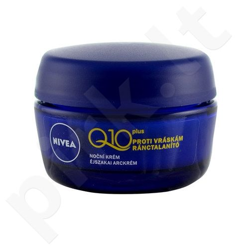 Nivea Q10 Plus naktinis kremas, kosmetika moterims, 50ml