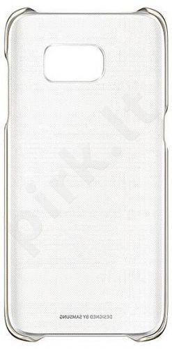 Samsung Galaxy S7 Edge skaidrus dėklas QG935CZE rožinis/auksinis