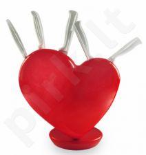 """Peilių rinkinys su laikikliu """"Širdis"""""""