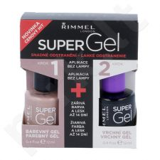 Rimmel London Super gelis By Kate Duo Kit rinkinys moterims, (12ml Super gelis By Kate + 12 ml Super gelis Top Coat) , (012 Soul Session)