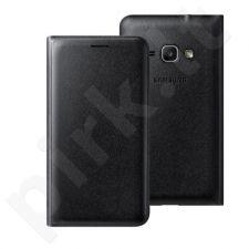 Samsung Galaxy J3(2016) atverčiamas dėklas piniginė WJ320PBE juoda