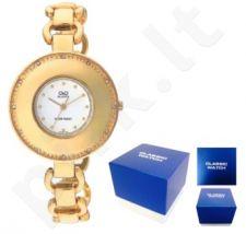 Laikrodis Q&Q FASHION moteriškas FASHION GOLD Q&Q FASHION moteriškas CLASSIC SILVER NEUTRAL BOX F255-001Y