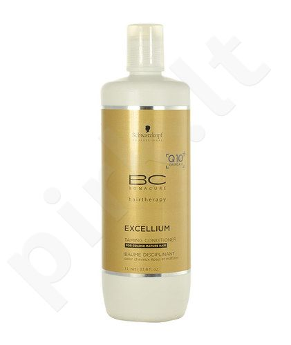 Schwarzkopf BC Bonacure Excellium Taming kondicionierius, kosmetika moterims, 1000ml