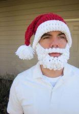 Kalėdinė žieminė kepurė su barzda