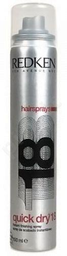 Redken Quick Dry 18 Hairprays, 400ml, kosmetika moterims
