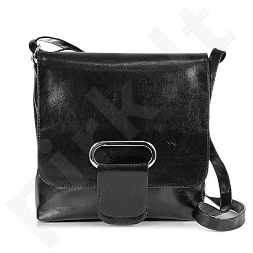 DAN-A T37 juoda rankinė iš natūralios odos , moteriška