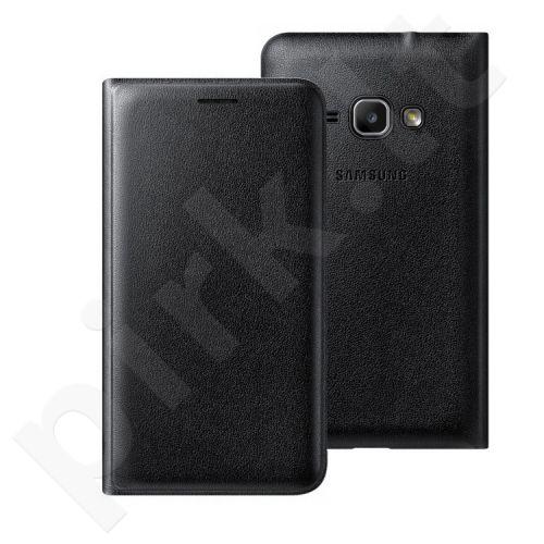 Samsung Galaxy J1(2016) atverčiamas dėklas juodas