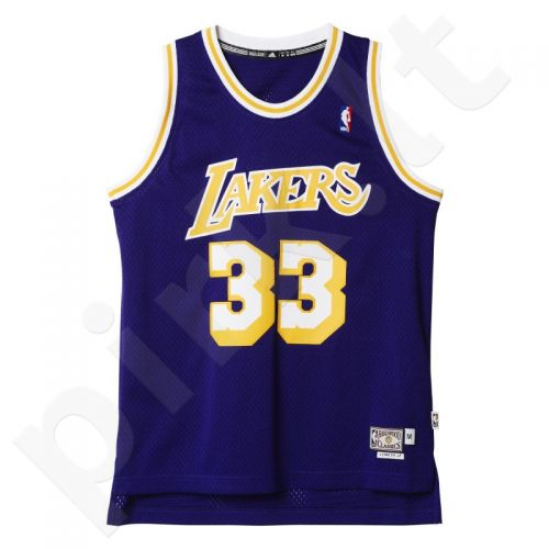 Marškinėliai krepšiniui Adidas Los Angeles Lakers Retired Kareem Abdul-Jabbar A46425