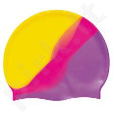 Kepuraitė plauk. unisex silik. 7391 299 yellow/mul