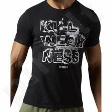 Marškinėliai treniruotėms Reebok CrossFit Kill Weakness M AJ3481