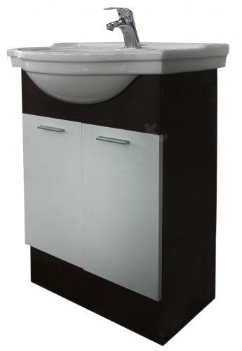 Vonios kambario spintelė su praustuvu SV50 ruda