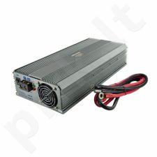Whitenergy Inverteris AC/DC 12V (automobilis) 230V, 1500W, 2 lizdai