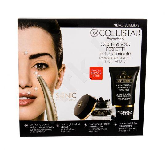 Collistar Precious Pearls Eye Contour, Nero Sublime, rinkinys paakių kremas moterims, (Pearl Eye Care 40 pcs + Daily Facial kremas 15 ml + Skin Care Device)