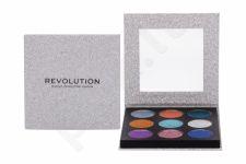 Makeup Revolution London Pressed Glitter, akių šešėliai moterims, 13,5g, (Illusion)