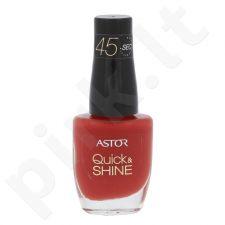Astor Quick & Shine nagų lakas, kosmetika moterims, 8ml, (626 Cherry Clafoutis)