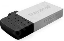 Atmintukas Transcend Jetflash 380G 8GB, USB/micro USB, Sidabrinis
