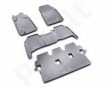Guminiai kilimėliai 3D TOYOTA Land Cruiser 200 2008-2012, 5 pcs. /L62063G /gray