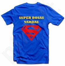 """Marškinėliai """"Super bosas"""" su Jūsų pasirinktu vardu"""