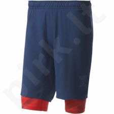 Šortai sportiniai Adidas Crazytrain Two-in-One Shorts M BK6162