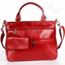 DAN-A T88 raudona rankinė iš natūralios odos , moteriška