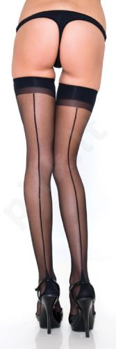 Thigh High with Backseam and Cuban Heel (O/S, XL/3XL)