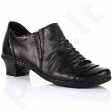 Rieker 52180-00 juodi odiniai pusbačiai komfortiški