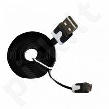 Kabelis microUSB 2.0 MSONIC 1m juodas