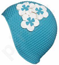 Kepuraitė plauk. mot. gum. BUBBLE su gėle 3119 59