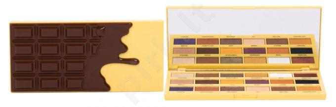 Makeup Revolution London I Heart Revolution, Chocolate, akių šešėliai moterims, 18g, (Creme Brulée)