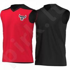 Marškinėliai dvipusė  krepšiniui Adidas Summer Run Sleeveless Chicago Bulls Junior AO2164