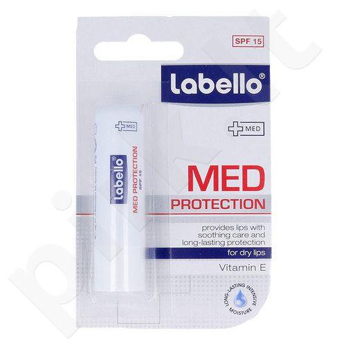 Labello Med Protection SPF15 lūpų balzamas, kosmetika moterims ir vyrams, 5,5ml