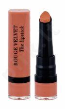 BOURJOIS Paris Rouge Velvet, The Lipstick, lūpdažis moterims, 2,4g, (01 Hey Nude!)