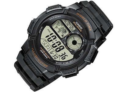 Casio Collection AE-1000W-1AVDF vyriškas laikrodis-chronometras