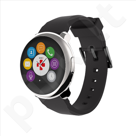 MyKronoz Smartwatch black, silver, 300 mAh, Touchscreen, Bluetooth, Yes, Waterproof, 63 g