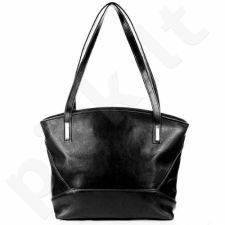 Rankinė odinė moteriška DAN-A T286 juoda