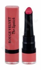 BOURJOIS Paris Rouge Velvet, The Lipstick, lūpdažis moterims, 2,4g, (02 Flaming´rose)