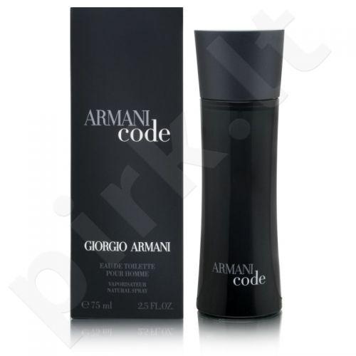 Giorgio Armani Armani Code Pour Homme, tualetinis vanduo vyrams, 75ml