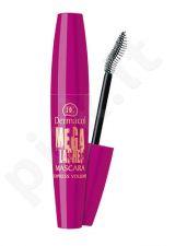 Dermacol Mega Lashes Express Volume blakstienų tušas, kosmetika moterims, 12,5ml, (Black)