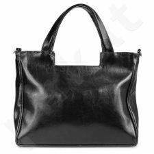 DAN-A T245 juoda rankinė iš natūralios odos , moteriška