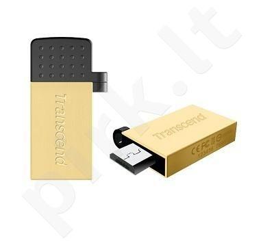 Atmintukas Transcend Mobile JF380G 32GB OTG, USB + micro USB, Auksinės spl.
