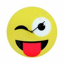 """Stiklinis laikrodis """"Emocija: liežuvis"""""""