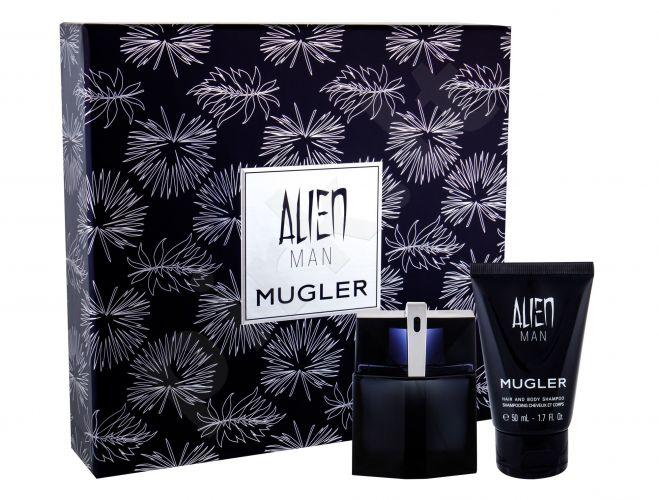 Thierry Mugler Alien Man, rinkinys tualetinis vanduo vyrams, (EDT 50 ml + dušo želė 50 ml)