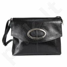 DAN-A T22 juoda rankinė iš natūralios odos , moteriška