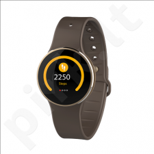 MyKronoz Zecircle 2 Smartwatch, Gold/ brown, Touchscreen, 70 mAh, Touchscreen, Bluetooth, Waterproof